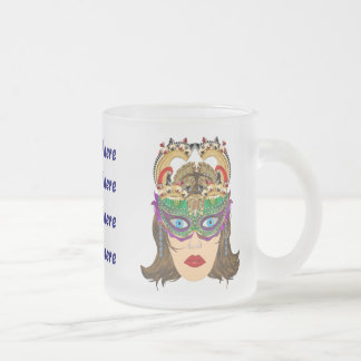 Mardi Gras Casino Queen 2 Plse View Artist Comment 10 Oz Frosted Glass Coffee Mug