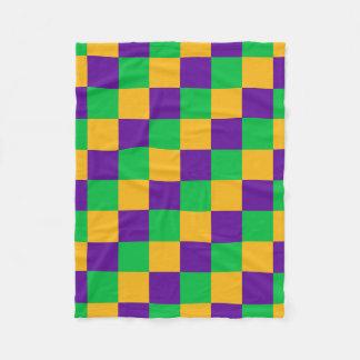 Mardi Gras Checker Blanket