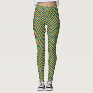 Mardi Gras Checker Leggings