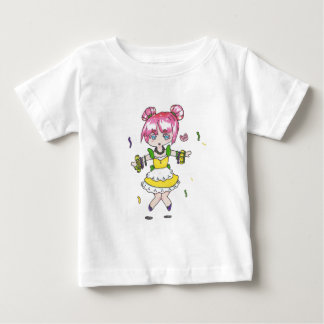 mardi gras  chibi with parade beads baby T-Shirt