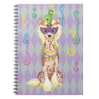 Mardi Gras Chinese Crested Notebook