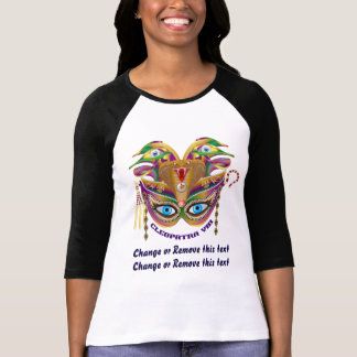 Mardi Gras Cleopatra-VIII Read About Design Below T-Shirt