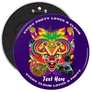 Mardi Gras Clown  view notes please Buttons