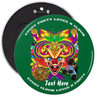Mardi Gras Clown  view notes please Pins