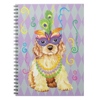 Mardi Gras Cocker Spaniel Notebook