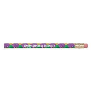 Mardi Gras Colored Balloons | DIY Text Pencil