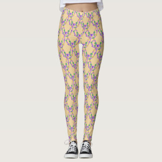 Mardi Gras Colourful Beads Leggings