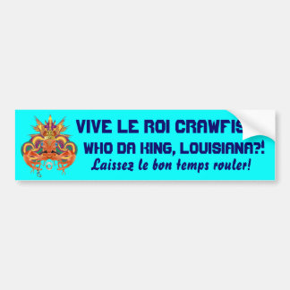 Mardi Gras Crawfish  Who Da King please view notes Bumper Sticker
