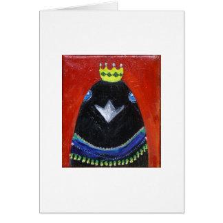 mardi gras crow card