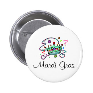 Mardi Gras Crown 2 Inch Round Button