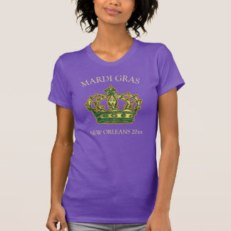 Mardi Gras Crown Add Location and Year T-Shirt