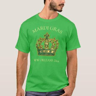 Mardi Gras Crown Add Year T-Shirt