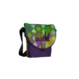 Mardi Gras Crown Mini Messenger Bag