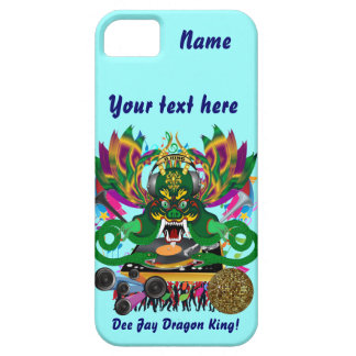 Mardi Gras D. J. Dragon King View Hints please Case For The iPhone 5
