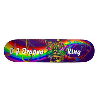 Mardi Gras D. J. Dragon King View notes please Custom Skate Board