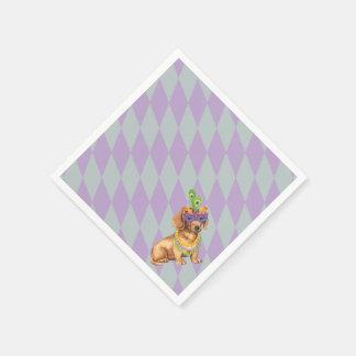 Mardi Gras Dachshund Paper Napkin