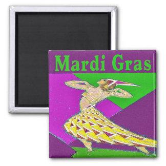 Mardi Gras Dancer Magnet