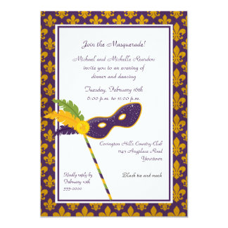 Mardi Gras Dinner Party Invitation