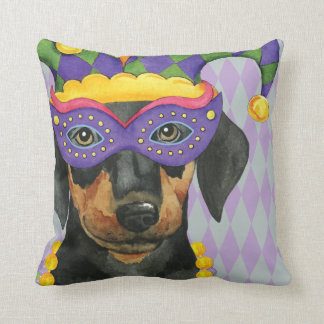 Mardi Gras Dobe Throw Pillow