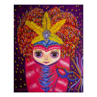 Mardi Gras Doll Poster
