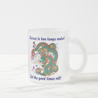 Mardi Gras Dragon  View notes please 10 Oz Frosted Glass Coffee Mug