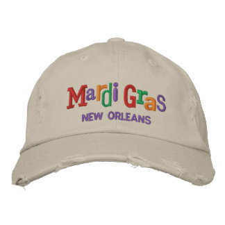 Mardi Gras Embroidery Hat