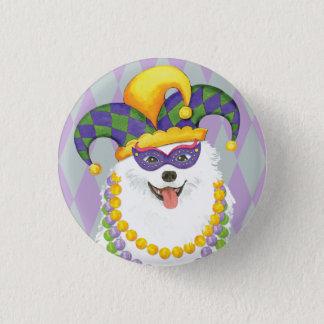 Mardi Gras Eskie 1 Inch Round Button