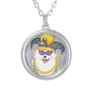 Mardi Gras Eskie Silver Plated Necklace