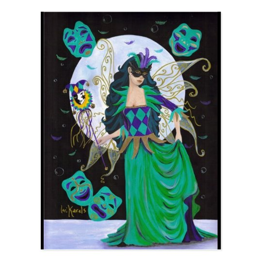 Mardi Gras Fairy Postcard