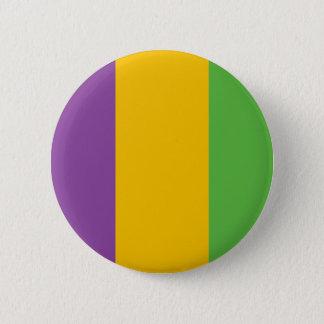 Mardi Gras Flag Crown 2 Inch Round Button
