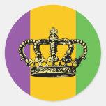 Mardi Gras Flag Crown Sticker