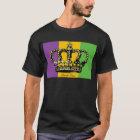 Mardi Gras Flag Crown T-Shirt