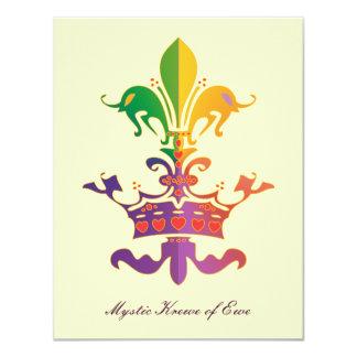 Mardi Gras Fleur de Crown Card