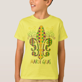 Mardi Gras Fleur de Dots T-Shirt