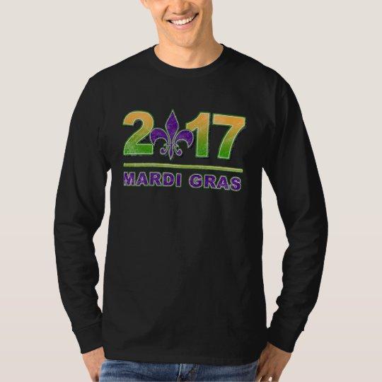 Mardi Gras Fleur-de-Lis 2017 Long Sleeve T-Shirt