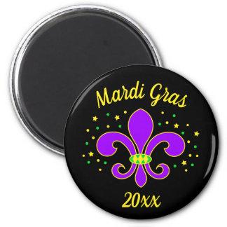 Mardi Gras Fleur-de-lis Add Year Magnet