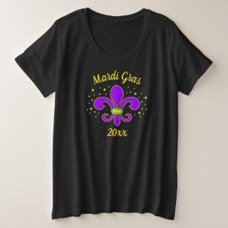 Mardi Gras Fleur-de-lis Add Year Plus Size T-Shirt