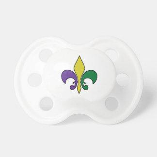 Mardi Gras ~ Fleur De Lis Baby Pacifiers