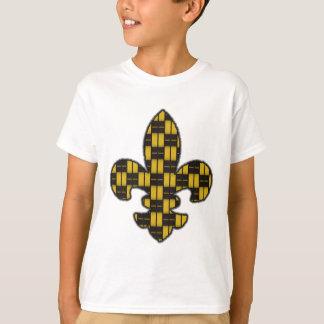 Mardi Gras Fleur De Lis Black Gold T-Shirt