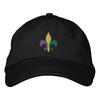 Mardi Gras ~ Fleur De Lis Embroidered Hat