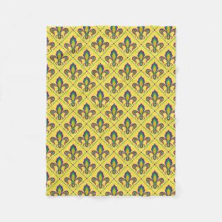 Mardi Gras Fleur De Lis Fleece Blanket