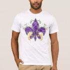 Mardi Gras Fleur-de-Lis Grunge T-Shirt