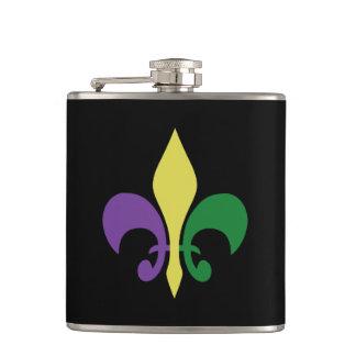 Mardi Gras ~ Fleur De Lis Hip Flask