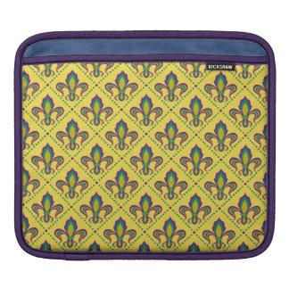 Mardi Gras Fleur De Lis iPad Sleeve
