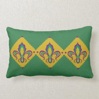 Mardi Gras Fleur De Lis Lumbar Pillow