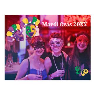 Mardi Gras Fleur De Lis Photo Postcard