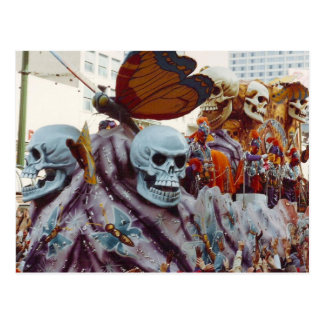 Mardi Gras Float Postcard