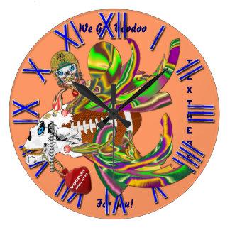 Mardi Gras Football Voodoo Skelly View Notes Plse Wall Clocks