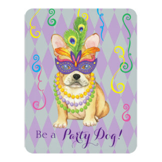Mardi Gras Frenchie Card