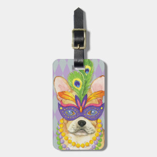 Mardi Gras Frenchie Luggage Tag